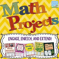 Math Projects & Activities I have a passion for creating engaging, meaningful, real world projects for my students to complete. My math projects and activities ar. 4th Grade Math Test, Fifth Grade Math, Sixth Grade, Fourth Grade, Second Grade, Grade 3, Math Resources, Math Activities, Math Games