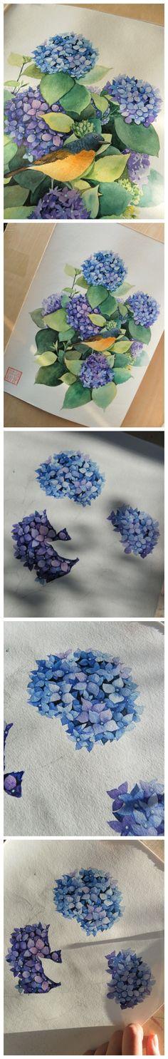 绣球花来自你好我叫派大星的图片分享-堆糖;