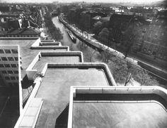 Berlin, Königin Augusta Straße, Dachterassen des Shell Gebäudes, 1932.