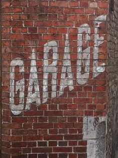 Old brick with painted signage