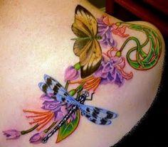 Beautiful dragonfly tattoo