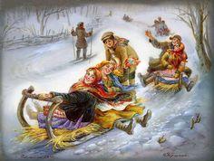 федоскинская миниатюра / Зимние забавы. Обсуждение на LiveInternet - Российский Сервис Онлайн-Дневников