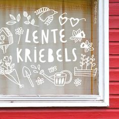 Spring Window Display, Spring Drawing, Posca Art, Stencils, School Decorations, Diy Hacks, Holiday Parties, Windows, Window Drawings