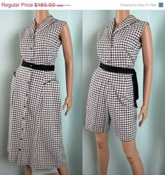 Spring SALE Vintage 1950s Cotton Gingham 3pc by TravelingCarousel