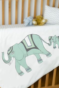 Veronique's Elephants...for a baby boy or a baby girl! http://en.atelieredele.com/