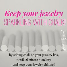 """""""Tip Tuesday! Make sure you are taking care of your jewelry by keeping moisture away. Chalk is your…"""""""