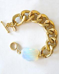 LOVE LOVE LOVE Chunky Opalite Bracelet - JewelMint