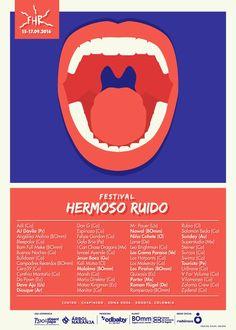 Este es el cartel del Festival Hermoso Ruido 2016 – Estereofonica