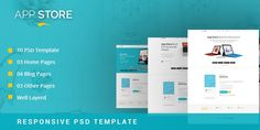 Apps Landing Page PSD Template