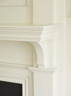 Rope Molding Around Fireplace Mantle! TradHome.com