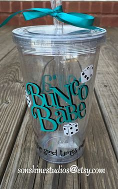 Bunco Babe Acrylic Tumbler Personalized by sonshinestudios Bunco Snacks, Bunco Prizes, Bunco Game, Bunco Party, Bunco Themes, Bunco Ideas, Party Ideas, Gift Ideas, Game Night Parties