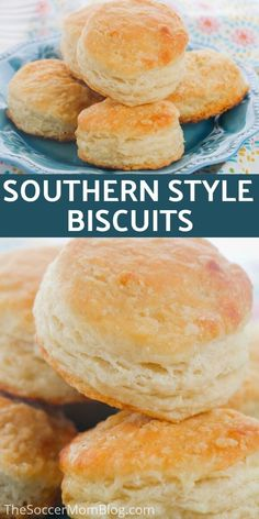 Soccer Mom Blog teaches you how to make the best homemade biscuits! In the south, biscuits are a staple for breakfast but they can be tricky to make. This easy recipe makes baking up some buttermilk biscuits a breeze! Try making your own for breakfast this weekend. #breakfast #baking #biscuits #easy #recipes Southern Homemade Biscuits, Southern Buttermilk Biscuits, Sweet Recipes, Easy Recipes, Bread Recipes, Southern Recipes, Copycat Recipes, Baking Flour, Baking Biscuits