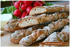 Glutenfreie Brotstangen! Herrlich knusprig und mit mischbrotähnlicher Textur! www.rezepte-glutenfrei.de