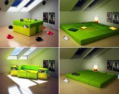 All in one couch, bed, table!