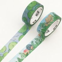 Lovely+washi+tapes+with+lotus+&+green+floral+print+of+summer+theme    Quantity:+1+pc+/+2+pcs  Size:+15+mm(W)+x+7+m(L)