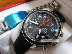 Omega Speedmaster Automatic Watch Mk 40 Date Mens Auto Sapphire 3813 photo