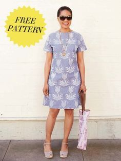 Newest Free of Charge dress Sewing patterns Thoughts See yourself in print A-line dress Tunic Dress Patterns, Dress Making Patterns, Vintage Dress Patterns, Tunic Pattern, Clothing Patterns, Vintage Dresses, Free Pattern, New Look Dress Patterns, Dress Patterns Women