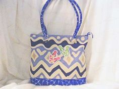 Independence Day Medium Summer Tote-Surf's Up at the Beach by MASBags, $30.00 USD