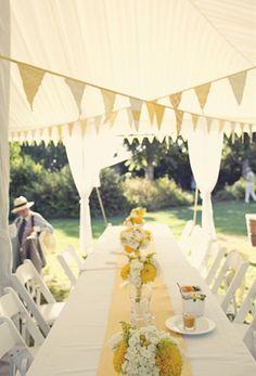Yellow reception table. yellow weddings. summer weddings.