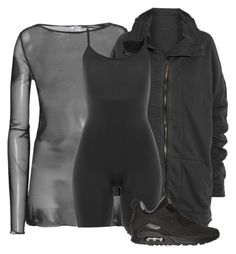 """Untitled #154"" by sianjasmynp ❤ liked on Polyvore featuring Wolford, Haider Ackermann, SPANX and NIKE"