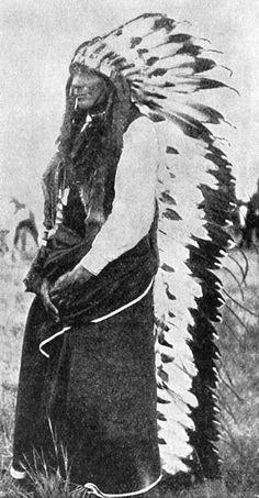 Cheyenne Indians: Man on the Cloud - A Cheyenne Chief in his War Bonnet