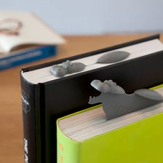 These awesome bookmarks. | 23 Things Every Hippo Lover Should Own