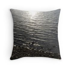 Shore at Sundown on a small throw pillow Pillow Fight, Shades Of Grey, Artsy Fartsy, Framed Art Prints, Tote Bags, Promotion, It Cast, Posters, Throw Pillows