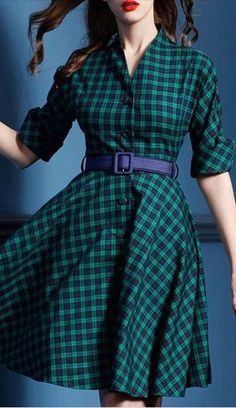 Plaid dress best outfits - cute dresses outfits - Outfits for Work Cute Dress Outfits, Stylish Outfits, Cool Outfits, Plaid Fashion, Vintage Fashion, French Fashion, Fall Fashion, Style Fashion, Fashion Tips