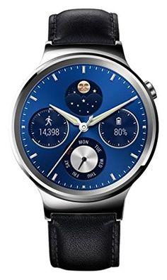 Huawei Watch Classic, Smartwatch compatibile con Android 4.3 o superiore e iOS 8.2 o superiore, Display Touchscreen AMOLED 1.4 pollici, 42mm, Processore Snapdragon 400, 1.2 GHz, 512 MB RAM, 4 GB memoria interna, Cinturino in Pelle, Nero