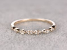 Diamond Wedding ring,Rose/Yellow/White Gold.Every Jewelry in my store needs making to order. ------ Item details: Solid 14K Yellow Gold(Gold color can