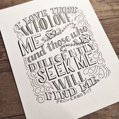 A personal favorite from my Etsy shop https://www.etsy.com/listing/384412030/hand-lettered-bible-verse-print