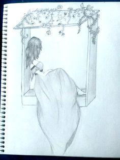 Girl Drawing Sketches, Girly Drawings, Art Drawings Sketches Simple, Pencil Art Drawings, Cartoon Drawings, Art Inspiration Drawing, Art Sketchbook, Inspirer, Sketching