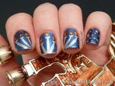 Hanukkah nails | from Wacky Laki