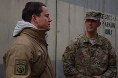 Karl Gatke, Sergeant First Class, Oregon National Guard Afghanistan, with Channing Tatum