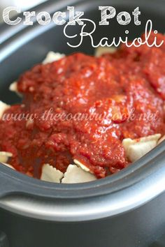 Crock Pot Ravioli