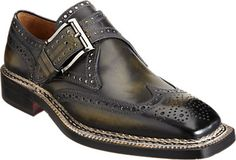 Bettanin & Venturi Perforated Wingtip Single Monk - Lace-Ups - Barneys.com