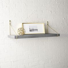 clad shelf with gold brackets - Track Lighting Lowes