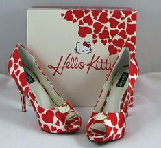 Hello Kitty heels, oh my goodness!!!!! I need these!