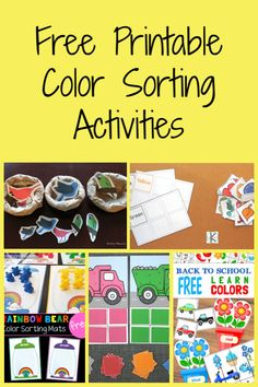 FREE Printable Color Sorting Activities for Kids colors sorting freeprintable printable Kidsactivities kids toddlers preschoolers 219691288059479851 Printable Activities For Kids, Toddler Learning Activities, Kindergarten Activities, Free Printables, Preschool Lessons, Preschool Colors, Free Preschool, Sorting Colors, Color Sorting For Toddlers