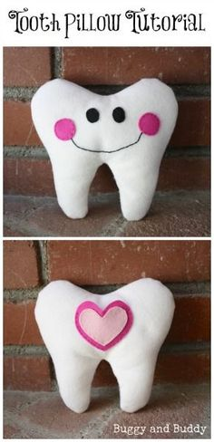 tooth pillow tutorial