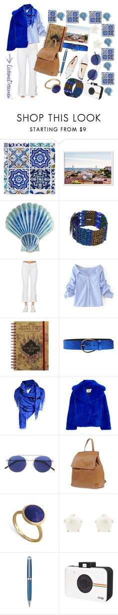 """""""Lisbon dreamin'"""" by effox ❤ liked on Polyvore featuring Juliska, Cost Plus World Market, J Brand, WithChic, Maison Margiela, MSGM, Manifatture Campane, Marco Bicego, Lulu Frost and Caran d'Ache"""