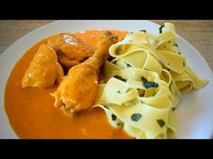 Kuře na paprice s těstovinami - YouTube Dairy, Cheese, Meat, Chicken, Youtube, Food, Red Peppers, Youtubers, Meals