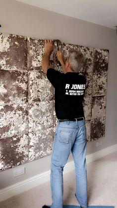 Lustro Crushed Velvet Padded Wall Tiles - Opal