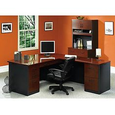 Via Ldesk And Lateral File With Hutch Set - Sauder Office Furniture