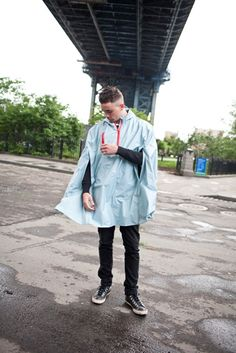 The O.S. Blue Cleverhood rain cape has a strong, lightweight, talc-finished membrane and sealed waterproof seams. It features tough, red YKK zippers, reflective...