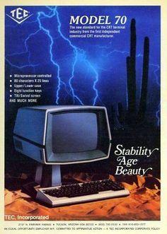 TEC model 70 computer CRT (1977).