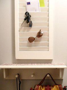 DIY Shutter Wall Organizer. #home http://www.ivillage.com/diy-home-gifts/7-b-502803#503664