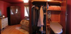 vintage armoire | ironing cupboard
