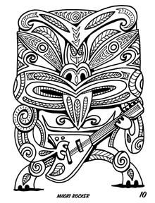 Another Tiki Coloring Book Available For The Holidays Only Half Of Stock