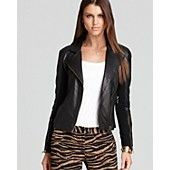 MICHAEL Michael Kors Leather Jacket with Knit Sides - the pants make this jacket even better.